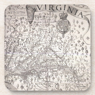 Virginia Map, 1612 Coaster