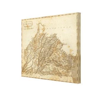 Virginia Map by Arrowsmith Canvas Print