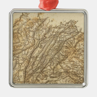 Virginia Map by Arrowsmith Silver-Colored Square Decoration