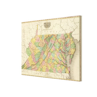 Virginia Maryland and Delaware Canvas Print