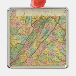 Virginia Maryland and Delaware Christmas Ornament