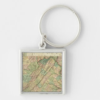 Virginia, Maryland and Delaware Key Ring