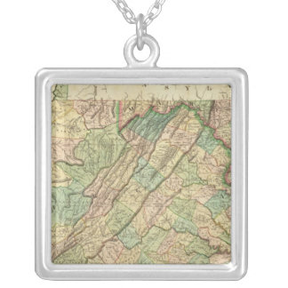 Virginia, Maryland and Delaware Silver Plated Necklace