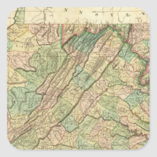Virginia, Maryland and Delaware Square Sticker