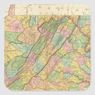 Virginia Maryland and Delaware Square Sticker