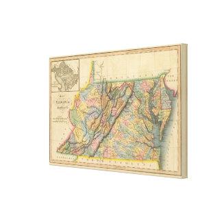 Virginia, Maryland Canvas Print