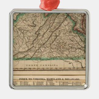 Virginia, Maryland, Delaware Christmas Ornament