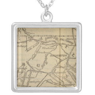 Virginia, Maryland, Delaware Silver Plated Necklace