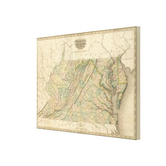 Virginia, Maryland, Delware Canvas Print
