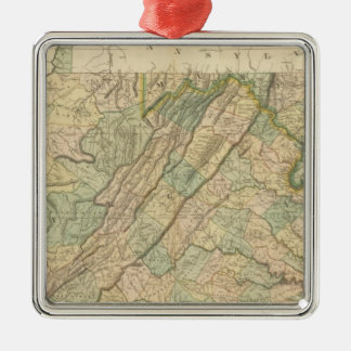 Virginia, Maryland, Delware Christmas Ornament