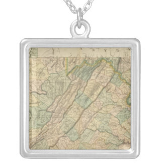 Virginia, Maryland, Delware Silver Plated Necklace