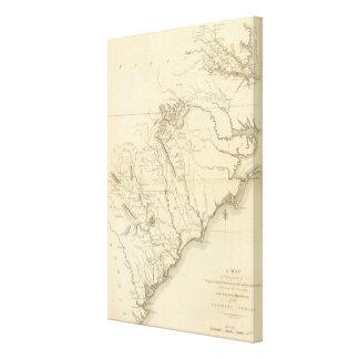 Virginia, North Carolina, South Carolina 2 Canvas Print
