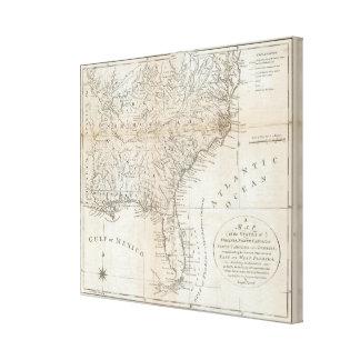 Virginia, North Carolina, South Carolina Canvas Print
