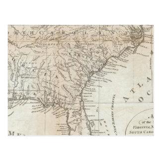 Virginia, North Carolina, South Carolina Postcard