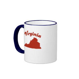 VIRGINIA Red State Ringer Mug