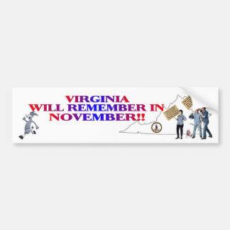 Virginia - Return Congress To The People!! Bumper Sticker