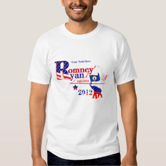 Virginia Romney and Ryan 2012 Tee Shirt 2