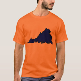 Virginia Script Tee - Orange