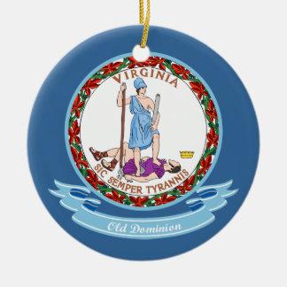 Virginia Seal Round Ceramic Decoration