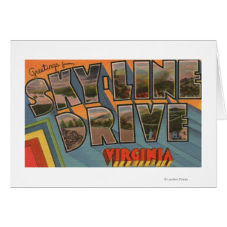 Virginia - Sky-Line Drive - Large Letter Card
