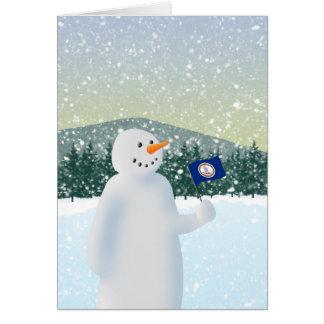 Virginia Snowman Card