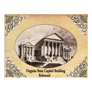 Virginia State Capitol Building Old Postcard