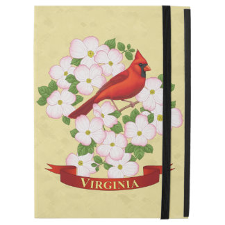 Virginia State Cardinal Bird and Dogwood Flower