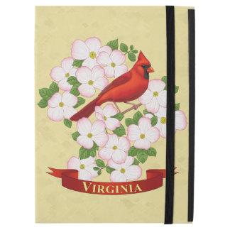 "Virginia State Cardinal Bird and Dogwood Flower iPad Pro 12.9"" Case"