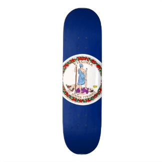 Virginia State Flag Custom Skate Board