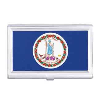 Virginia State Flag Design Case For Business Cards