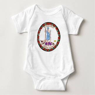 Virginia state flag seal united america country re baby bodysuit