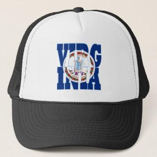 Virginia state flag text trucker hat