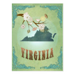 Virginia State Map – Green Postcards