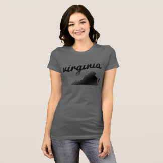 Virginia State on Ladies Grey T-Shirt