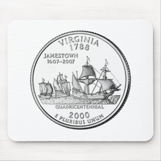 Virginia State Quarter Mouse Pad