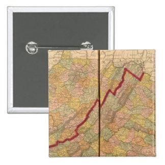 Virginia, West Virginia 15 Cm Square Badge