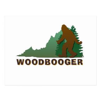 Virginia Woodbooger Postcard