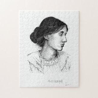 Virginia Woolf 2004 Ink Portrait Mark Westerfield Jigsaw Puzzle