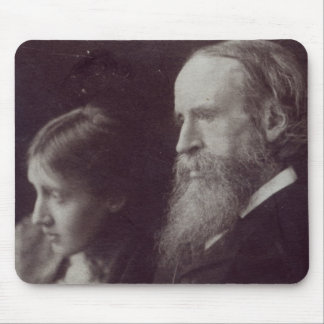 Virginia Woolf and her father Sir Leslie Mouse Mat