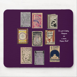 Virginia Woolf Books Mouse Mat