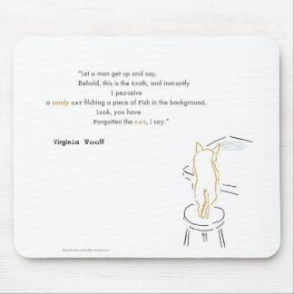 Virginia Woolf Filching Cat Mouse Mat