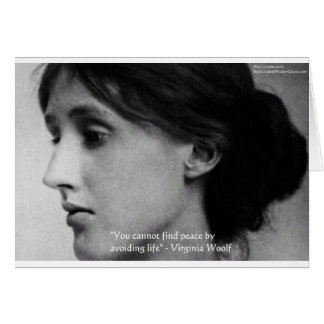 "Virginia Woolf ""Find Peace"" Wisdom Quote Gifts Card"