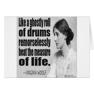 Virginia Woolf Ghostly Roll Quote Card