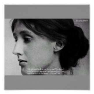 """Virginia Woolf """"Love Autumn"""" Love Quote Posters Print"""