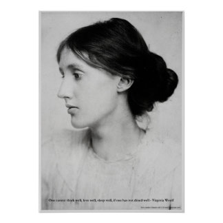 """Virginia Woolf """"Love Well"""" Love Quote Posters Posters"""