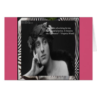 Virginia Woolf W/Zebra Stripes Writing Quote Cards