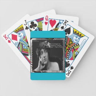 Virginia Woolf W/Zebra Stripes Writing Quote Card Deck