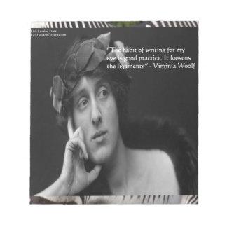 Virginia Woolf W/Zebra Stripes Writing Quote Notepad