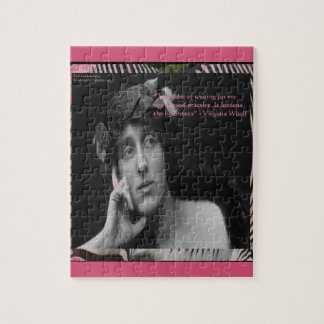 Virginia Woolf W/Zebra Stripes Writing Quote Puzzles