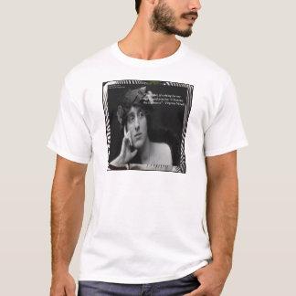 Virginia Woolf W/Zebra Stripes Writing Quote T-Shirt